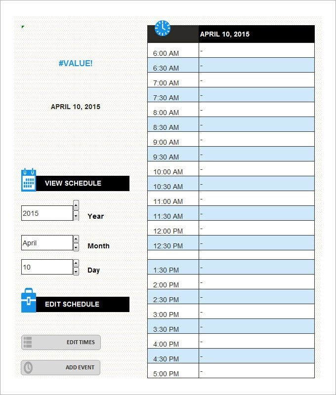 Daily Schedule Template - 5 Free Word, Excel, PDF Documents ...