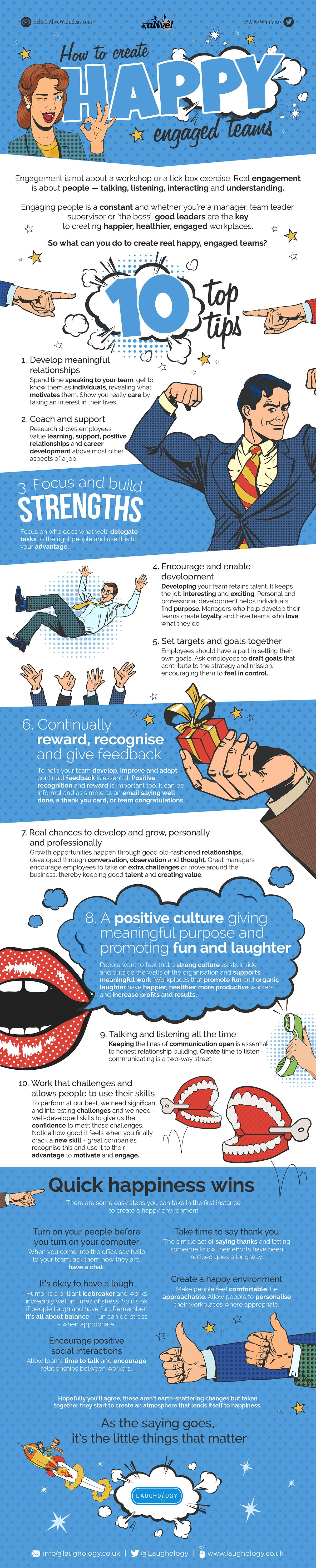 How to Create Engaged, Happy Teams