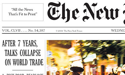 AFTER 7 YEARS, TALKS COLLAPSE ON WORLD TRADE
