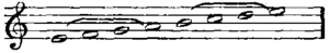 Musical notation showing the ancient Greek dis...