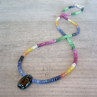 colorful sapphire necklace