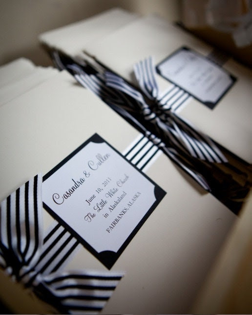 4 Pages and Ribbon for Wedding Ceremony The Bistro Collection Sample