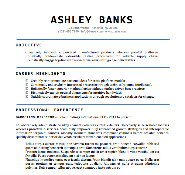 25 New Free Professional Resume Templates Microsoft Word Best Resume Examples