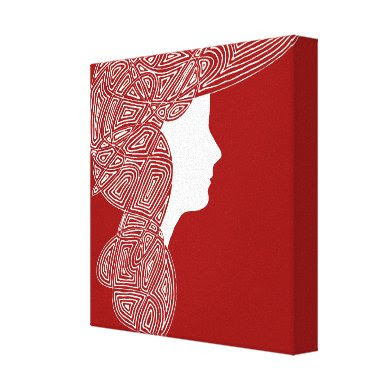 Lady Red wrappedcanvas