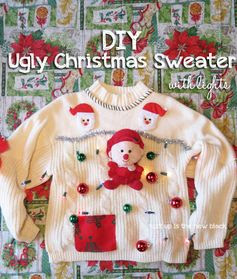 """It seems like this year I've heard more about Ugly Christmas sweater parties than ever before. My husband had the idea to throw one this weekend and my office had a contest for the """"ugliest."""""""
