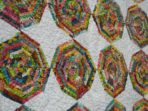 Lots 'o webs in my spiderweb quilt