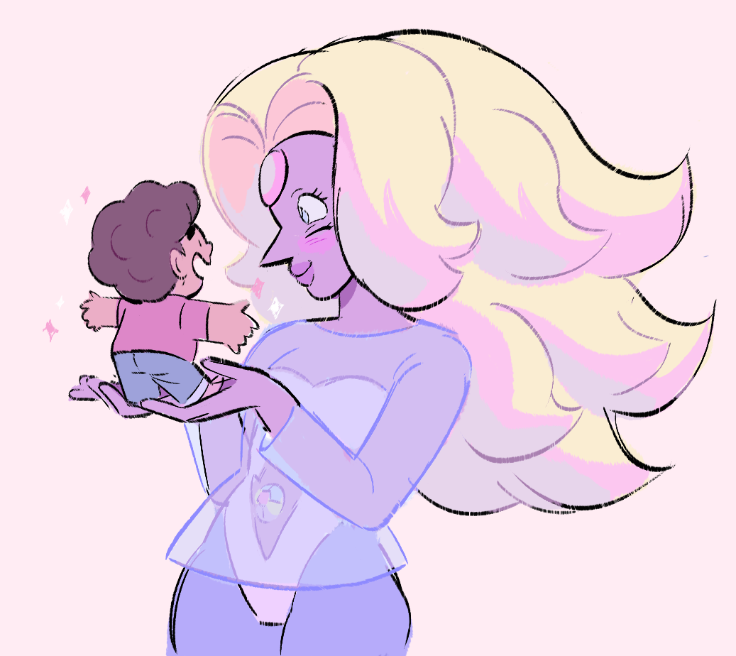 request of steven and rainbow quartz for anon! i love rainbow quartz's design and color palette, she's so fun!!