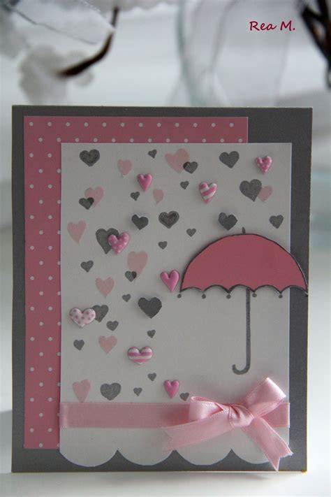 DIY Baby Shower Card   pretty in pink, cute in blue
