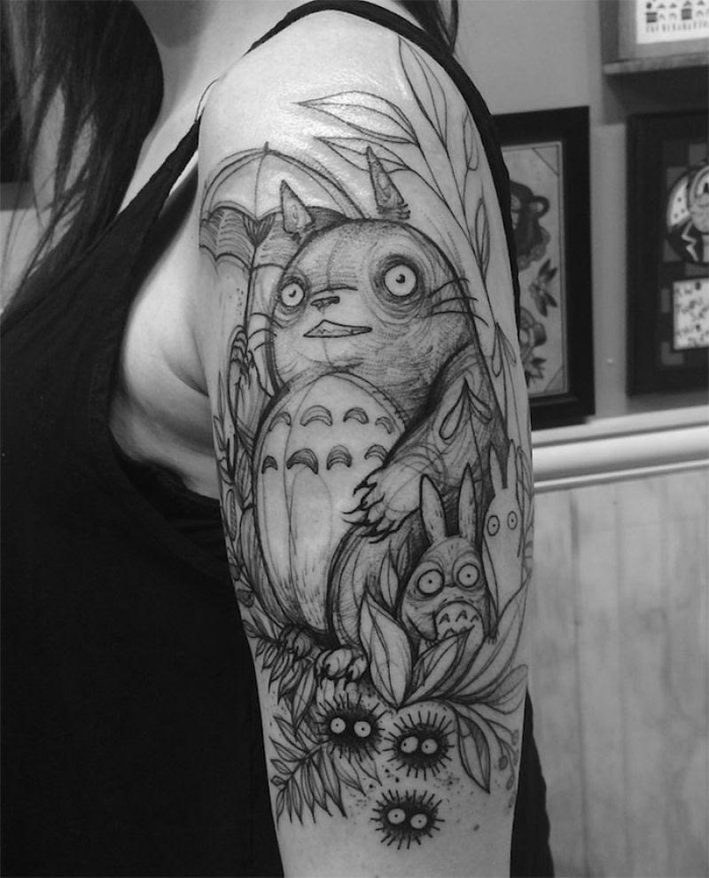 As tatuagens que parecem esboços de desenhos a lápis, por Nomi Chi 01