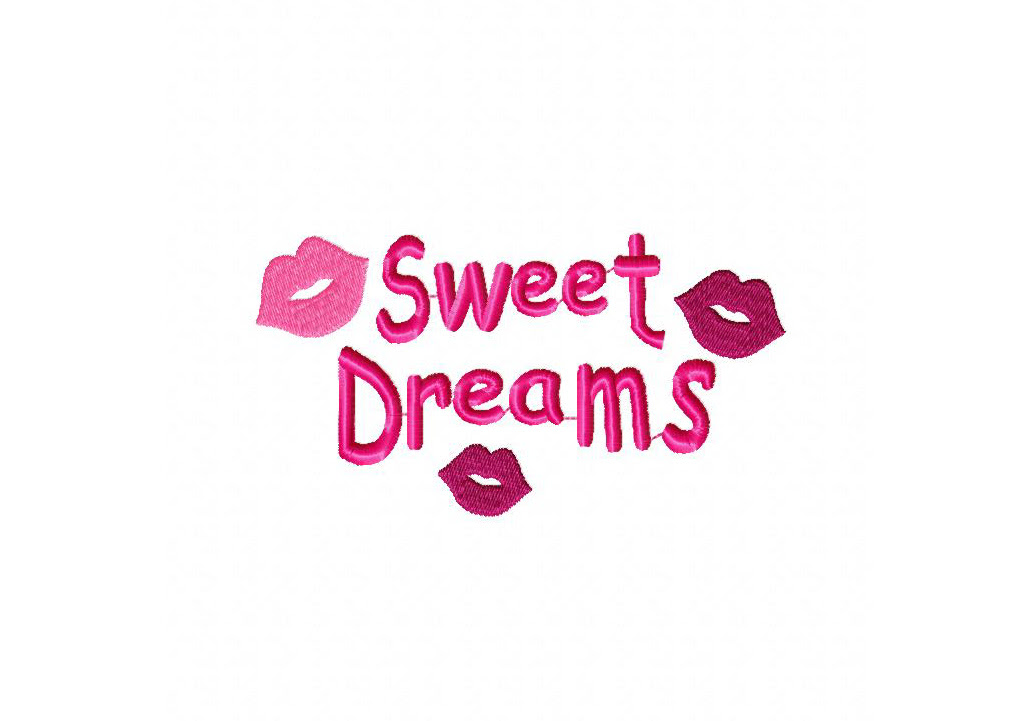 Sweet Dreams Machine Embroidery Design Daily Embroidery