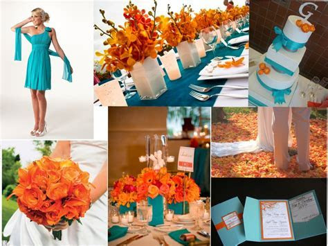 wedding decorations, orange, purple, turquoise   purple