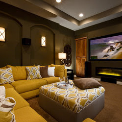 Fireplaces Media Room Design Ideas, Pictures, Remodel and Decor