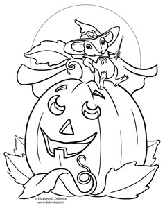 dulemba: Coloring Page Tuesday Pumpkin Mouse