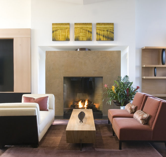 Contemporary Family Room by modern house architects
