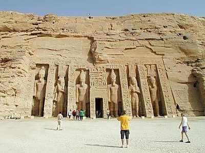 Hathor's temple at Abu Simbel
