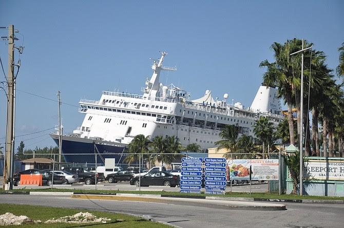 Updated Bahamas Celebration Cruise Ship Runs Aground No Danger Of It Sinking The Tribune