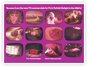 Middle Eastern scenes from Fry's Turkish Delight adverts in the 1980's
