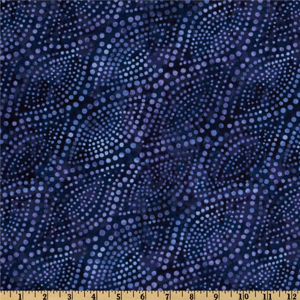 Diagonal Dots 108'' Quilt Backing Blue/Purple
