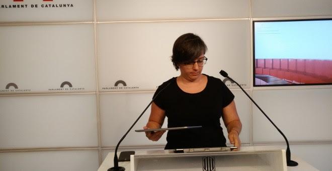 La diputada del Parlament por la CUP, Mireia Boya. EUROPA PRESS