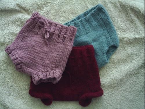 Cubiertas de lana para pañal de tela