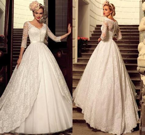 Designer 2016 Plus Size Vintage Full Lace Wedding Dresses