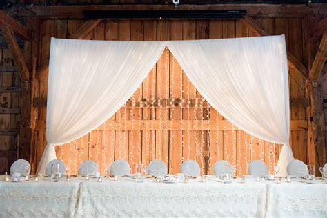Wedding Decor   Head Table, Open Twinkle Backdrop