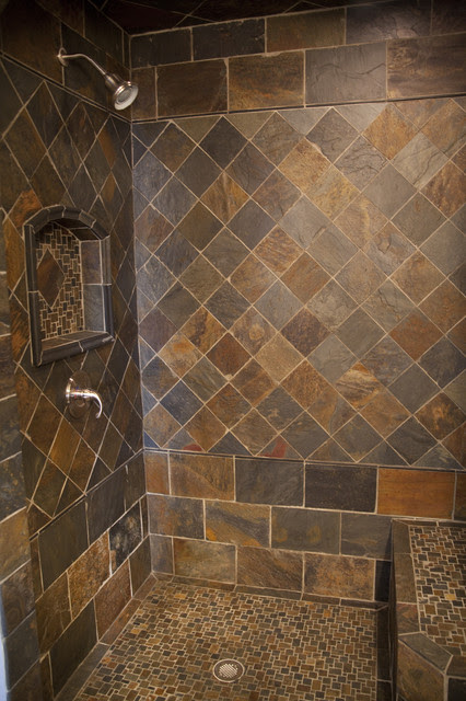 New slate bathroom