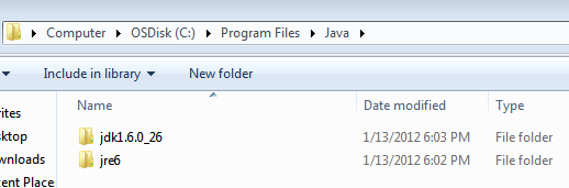 Checking Java Installation Directory Structure