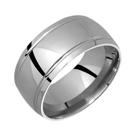New Stylish Mens Titanium Ring Wedding Band For Engagement