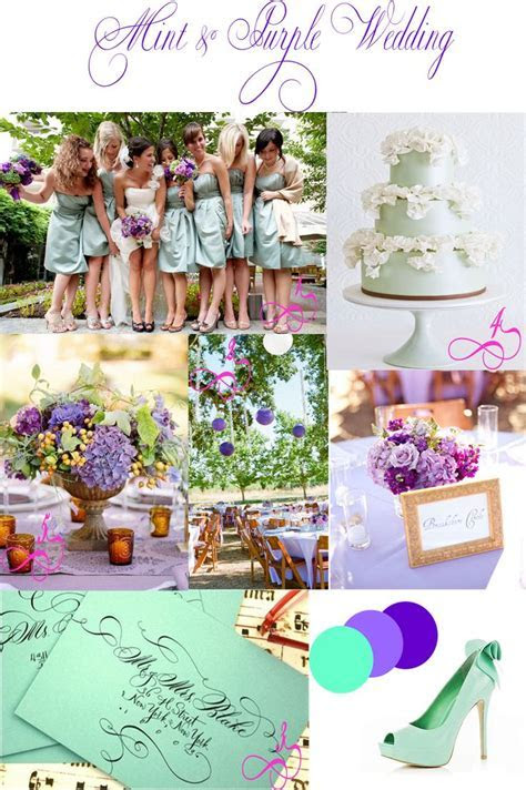 69 best images about Wedding   Purple & Mint on Pinterest