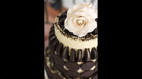 The Oreo Cookie Wedding Cake by The Internet Chef   YouTube