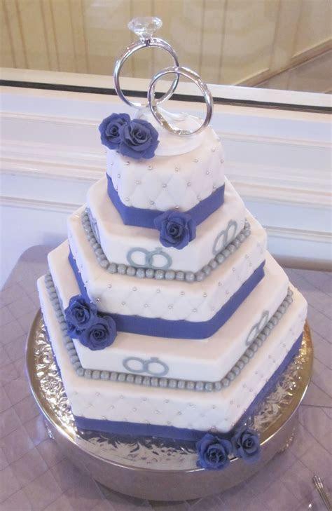 Darlin' Designs: Hexagon Wedding Cake