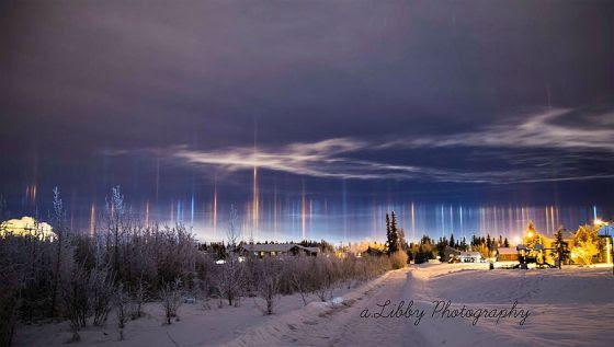 Pilar de Luz no Alasca