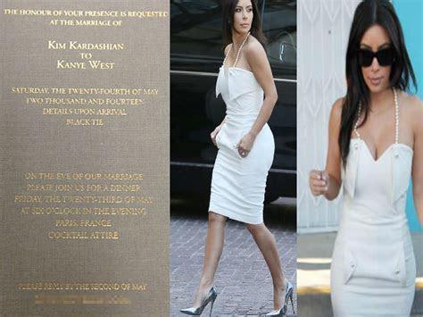 Kim Kardashian & Kanye West Wedding Invitation   Boldsky.com