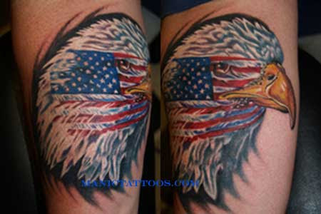 American Flag And Eagle Tattoo