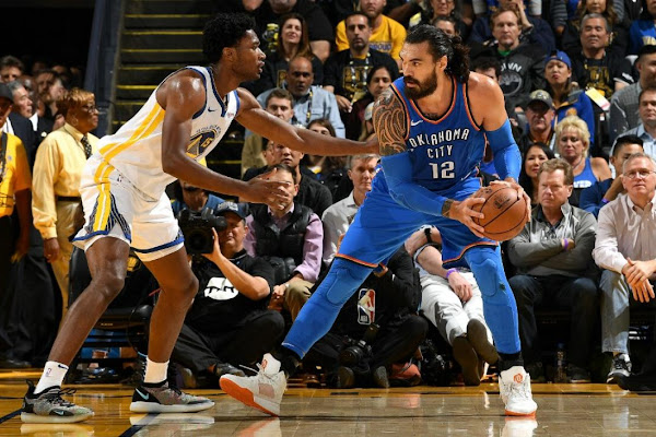47ab7d083 NBA: Steven Adams proves shining light in Oklahoma City's opening loss to  Golden State