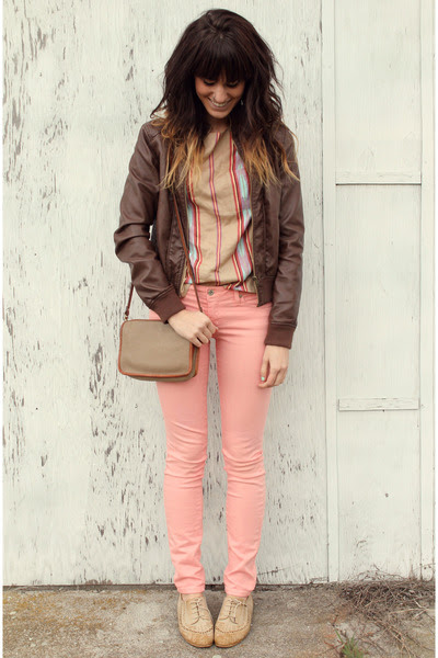 Camel-le-bunny-bleu-shoes-coral-jeans-dark-brown-mossimo-jacket-tan-top_400