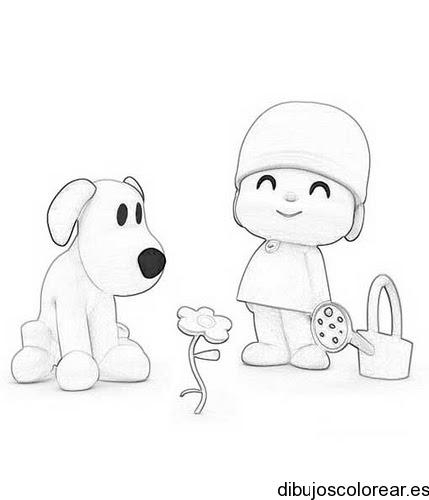 Dibujo De Un Nino Y Un Perro