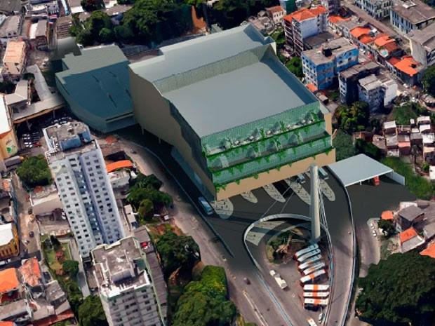 Nova estaçao da Lapa (Foto: Divulgação/Prefeitura de Salvador)