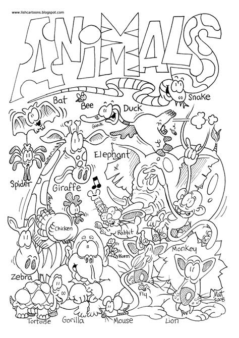 zoo animals coloring pages  animal pictures  color
