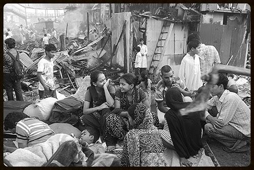 Rubina Ali Slum Dog Millionaire Star ..Garib Nagar Fire Bandra East by firoze shakir photographerno1