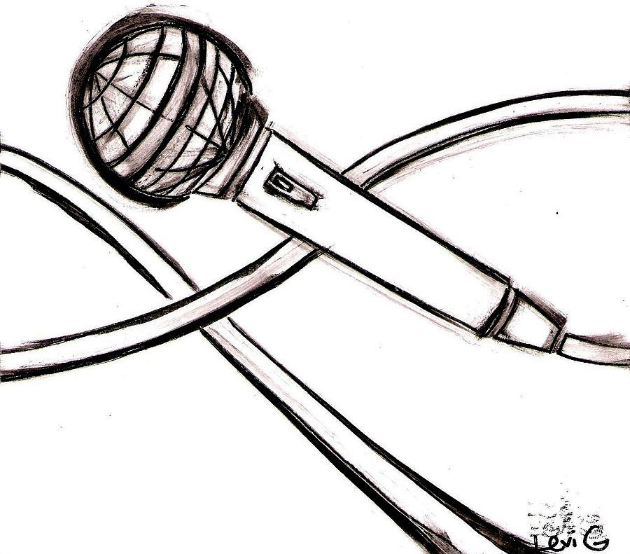 Microphone Drawing At Getdrawingscom Free For Personal Use