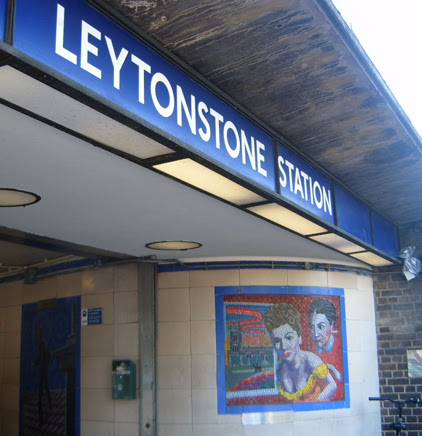 Hitchcock Leytonstone London Underground Mosaics - Outside