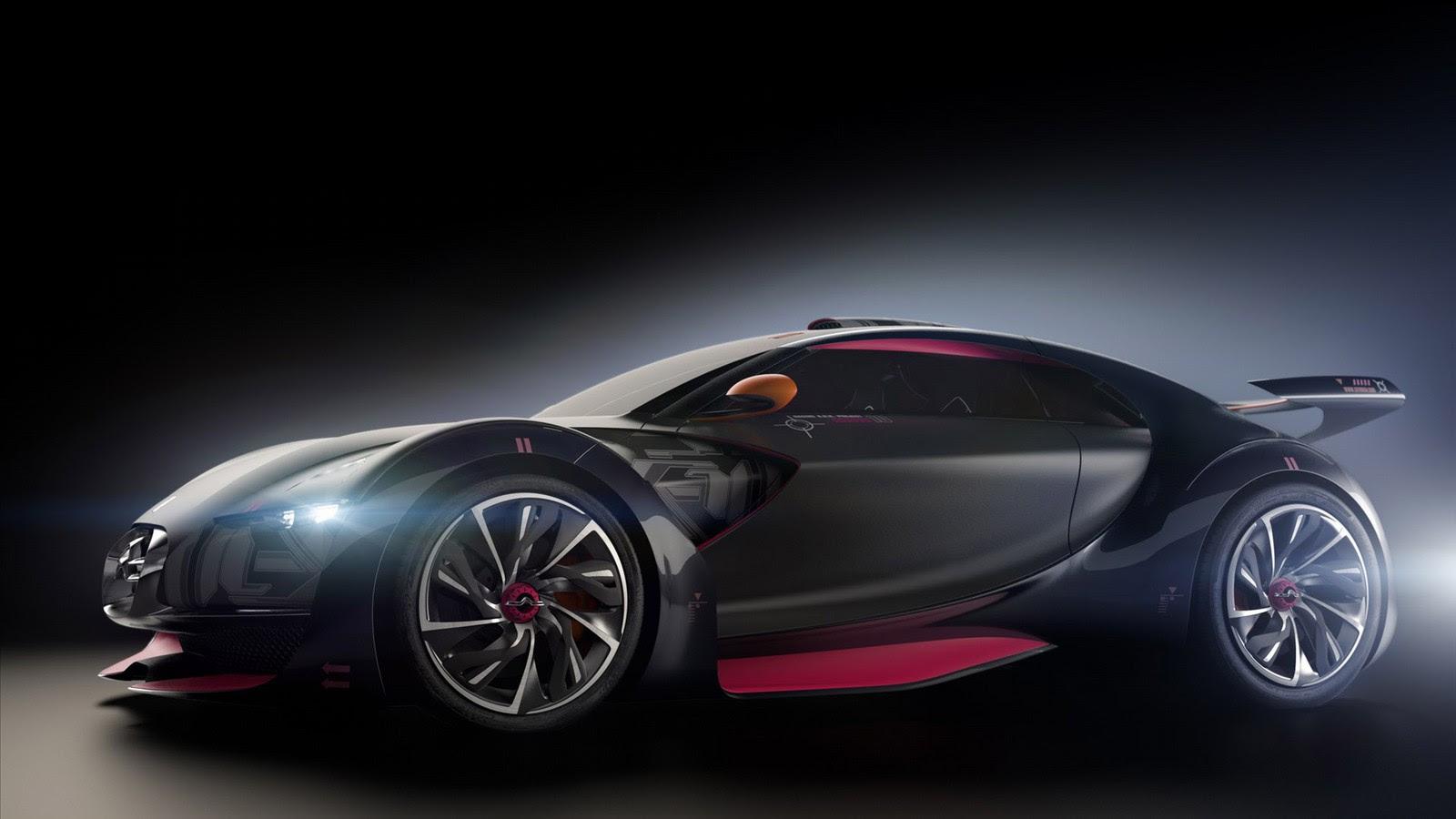 Black Sports Car Wal