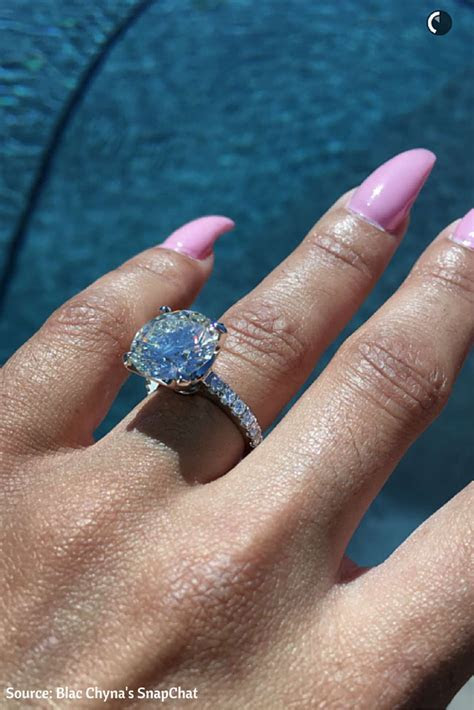 Blac Chyna Huge 7ct Solitaire Diamond Engagement Ring