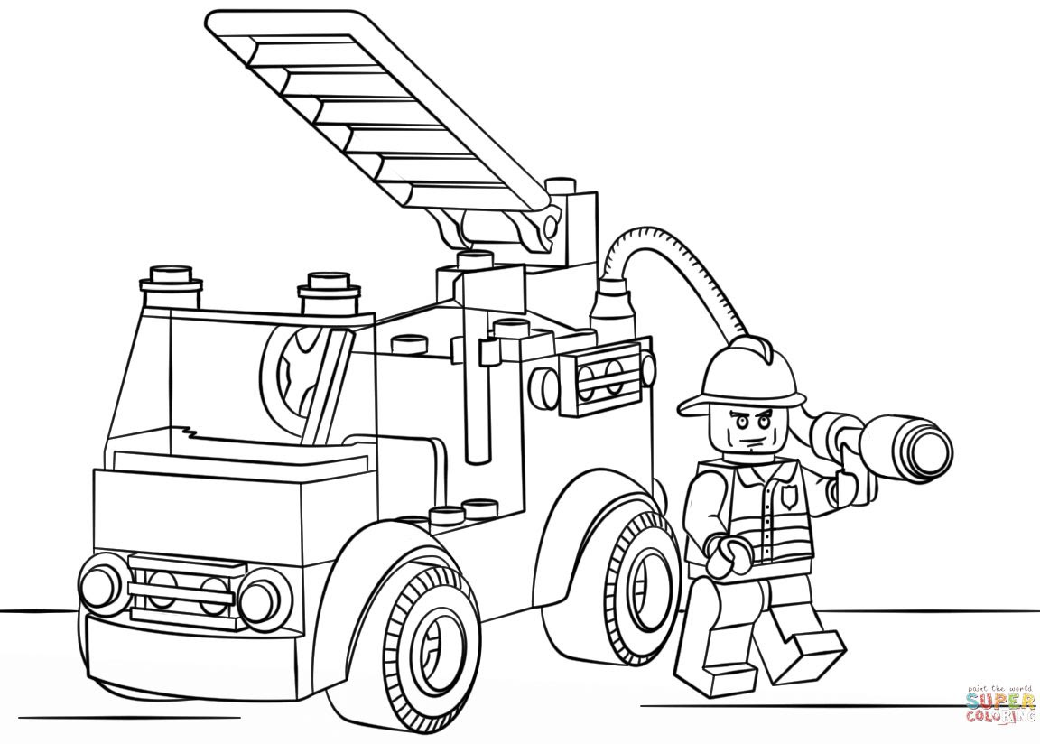Simple Fire Truck Drawing at GetDrawings | Free download