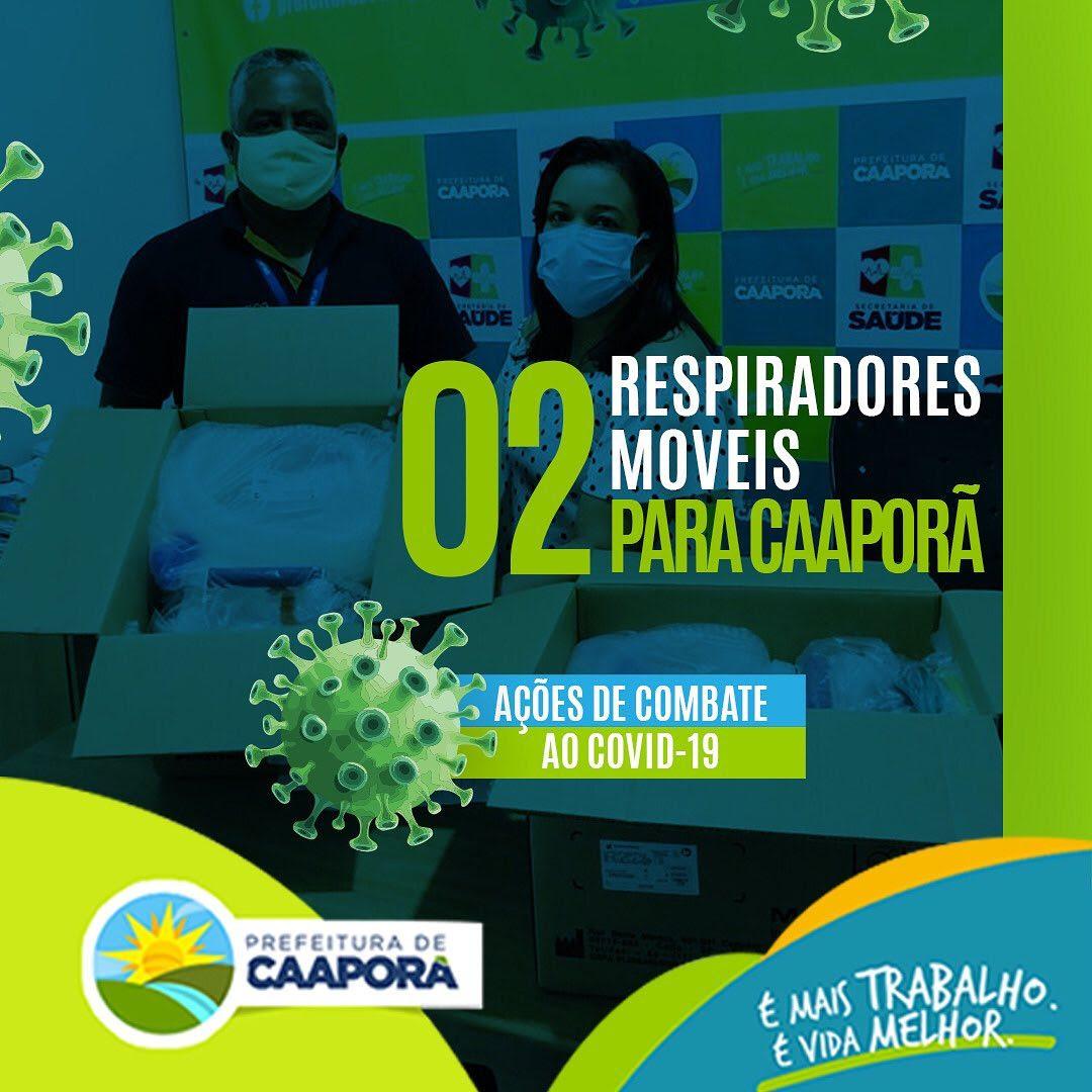Prefeitura de Caaporã adquire dois respiradores móveis para tratamento de pacientes