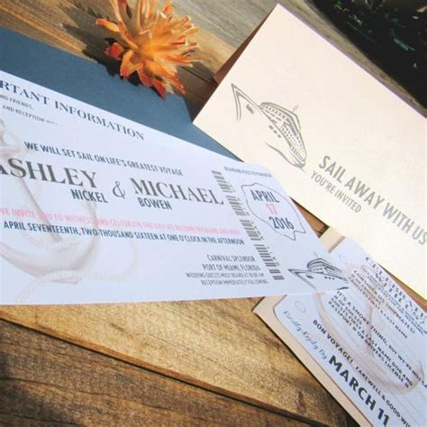Boarding Pass Wedding Invitation ~ Sail Away With Us