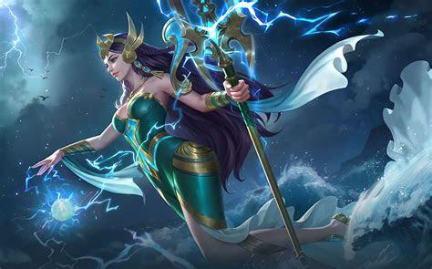 ml wallpaper kadita ocean goddess heroes mage  skins