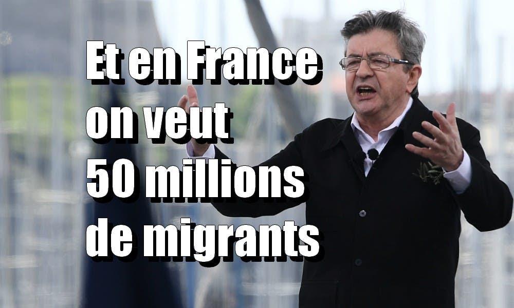 """Résultat de recherche d'images pour """"migrants Melenchon"""""""